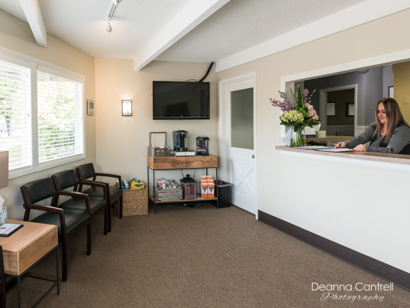 Mellum Family Dentistry reception area
