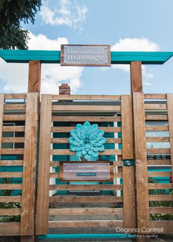 Entrance to Blue Marigold Massage + Wellness