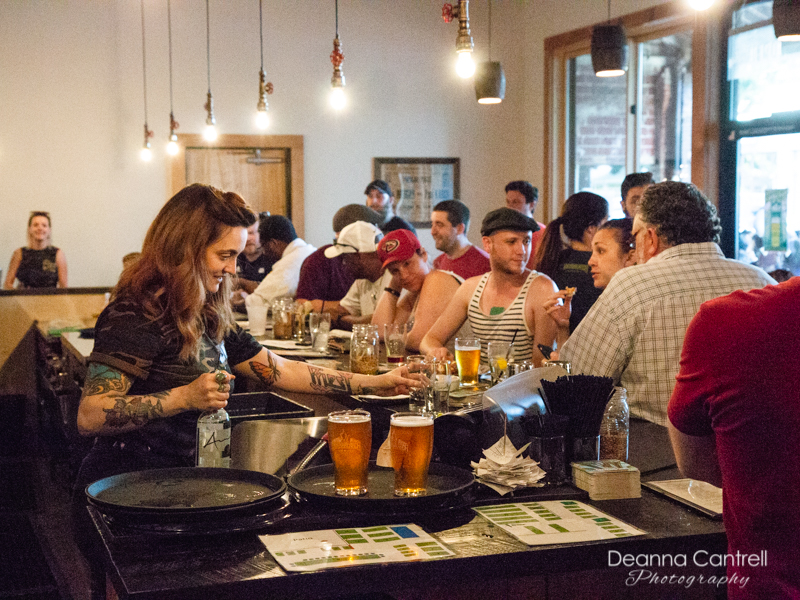 The busy bar at StormBreaker Brewing