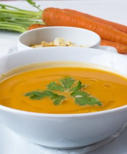 An image of a bowl of squash soup