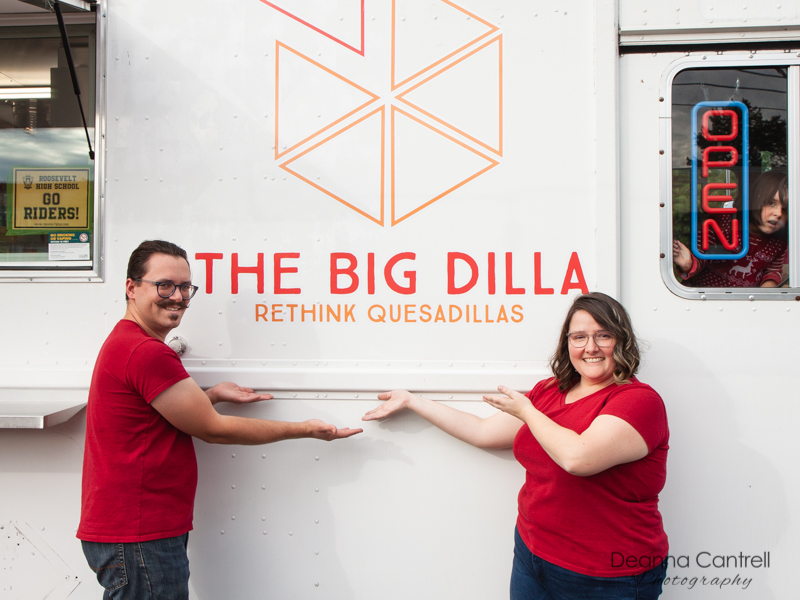 The Big Dilla owners, Austen and Rebekah Courpet
