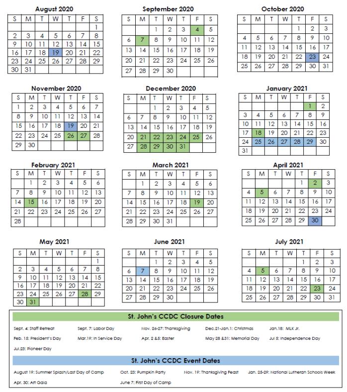 Uvu Fall 2022 Calendar.Calendars St John S