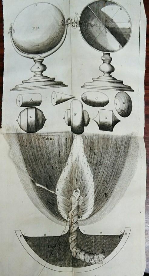 A diagram accompanying Hooke's publication 'Lampas'