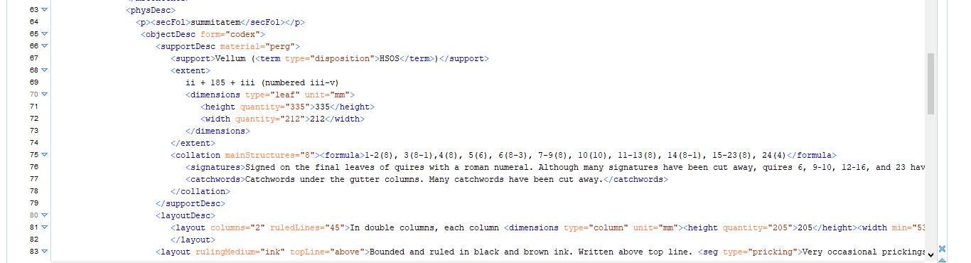 TEI-XML-Screenshot