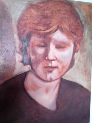 Lark, Oil on Canvas 50x40 cm
