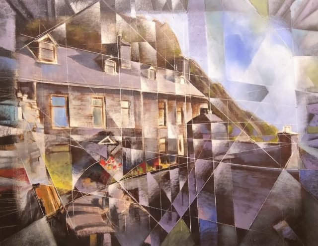 House of Eduard Guyard copyright Bernard Barnes, oil painting