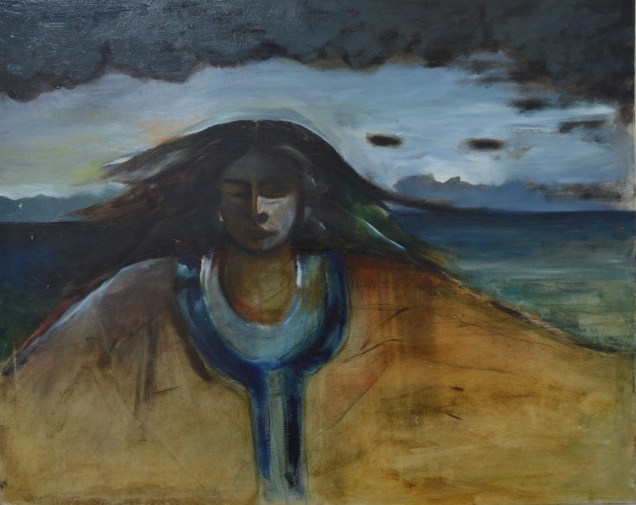 Woman of the Sea painting copyright Reyna Rushton
