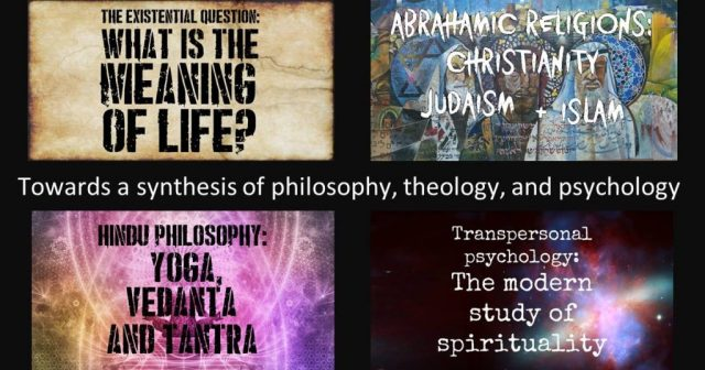 4 Talks in July: Towards a synthesis of philosophy, theology, and psychology
