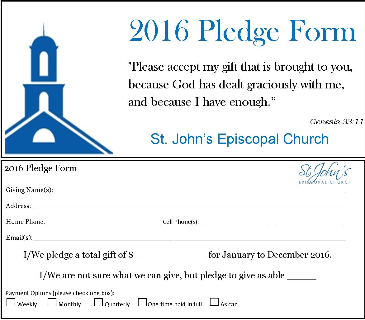 *2016 Pledge Form