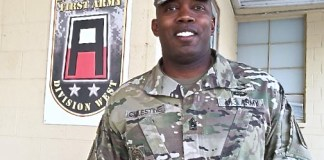 Command Sgt. Maj. Martin Celestine, Jr., a 42-year-old native of St. Thomas, has become on of the U.S. Army's top trainers.