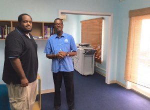 Shawn Brooks and Xuri Allen are ready for a new year at UVI's St. John Academic Center.