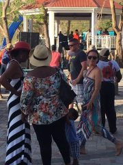 St. John residents dance to the music of Cool Sessions.