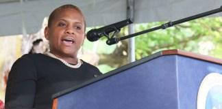 U.S. Army SHARP Director Monique Ferrell honors women veterans Saturday in her keynote address.