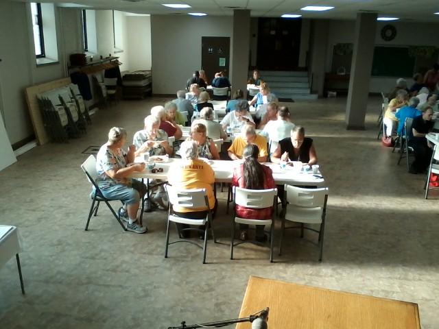 Community Members Enjoying Their Meal