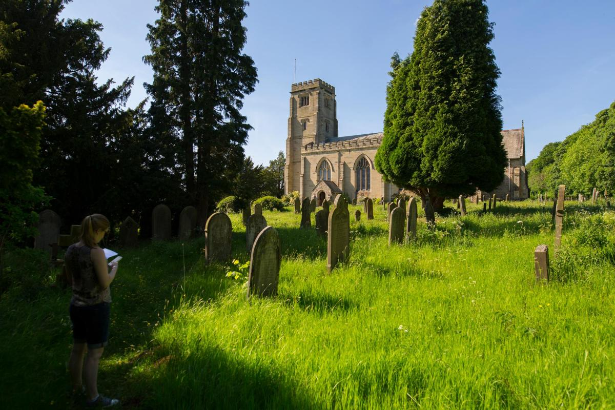 Beth Lonsdale Surveying Churchyard