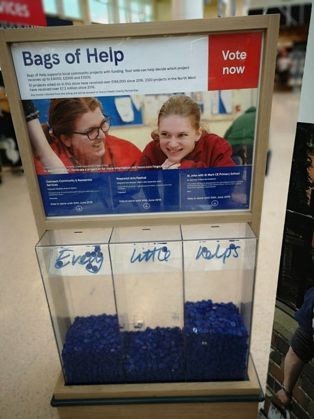 blue tokens bags of help