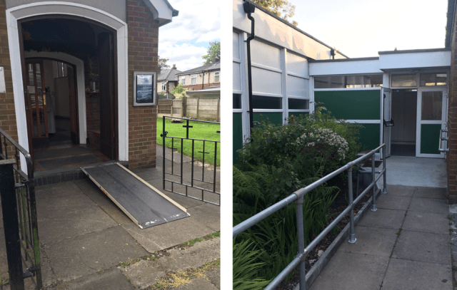 Portable access ramp and permanent slope