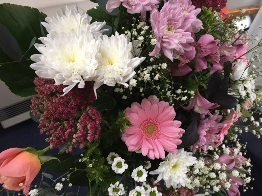 Harvest 2019 - a close up of one of the flower arrangements