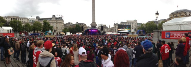 Trafalgar Square during the Fan Rally in October 2013