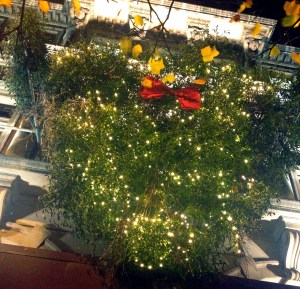 The mistletoe chandelier at Islington Square