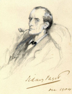 A 1904 illustration of Holmes by Sidney Paget