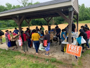 food distribution for immigrants