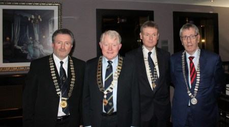 PPU Presidents L to R: Sean O'Connell, St Joseph's; Dr. Tony Connellan, O.Connell's; Damien Byrne, Synge St; Brian Duncan, Westland Row.