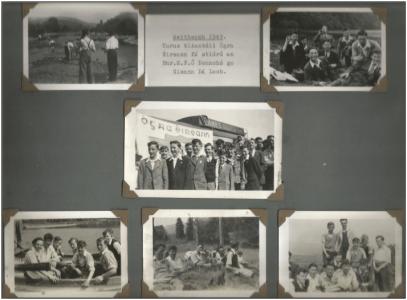 June 1949. Annual Ógra Éireann trip under the direction of Br. M.F. Ó'Donnchú to Glendalough. Photograph taken by Br. A.P. Caomhánach.