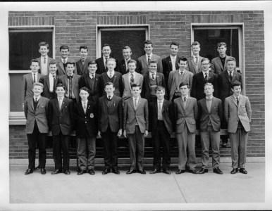 "Top row 1 from left ""Pidge"" Mcdonnel 2 left Denis McGrath Mid row 2 from left David Barnes 3 from left Richard Copeland 10 from left Peter Slattery ( photo shop beside Carlton cinema in days of yore ) Bottom row 1 from left Sean Taoiling ( Teeling) 6 from left Vinnie Mc Getrick 8 from left Kevin Hopkins"