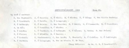 Class List of 1969 6B