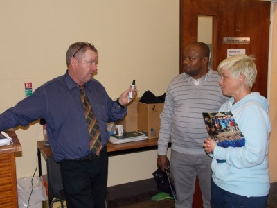 Mr Timmons explains the intricacies of IT to two parents!