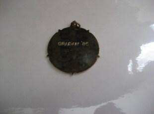 Medal 1985 - Back