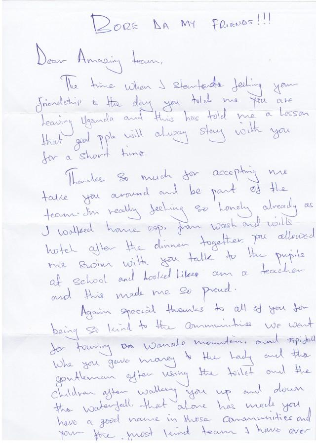 Josephs Letter
