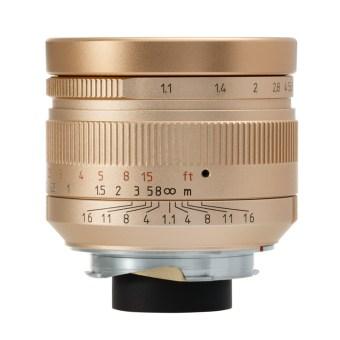 七工匠 7Artisans 50mm F1.1 ゴールド(ライカMマウント