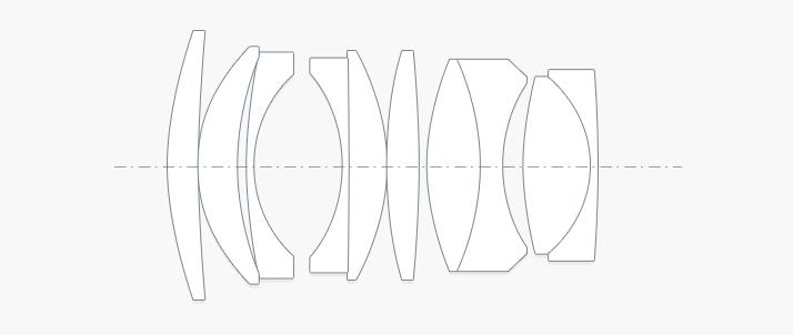 50mm F095-III レンズ図