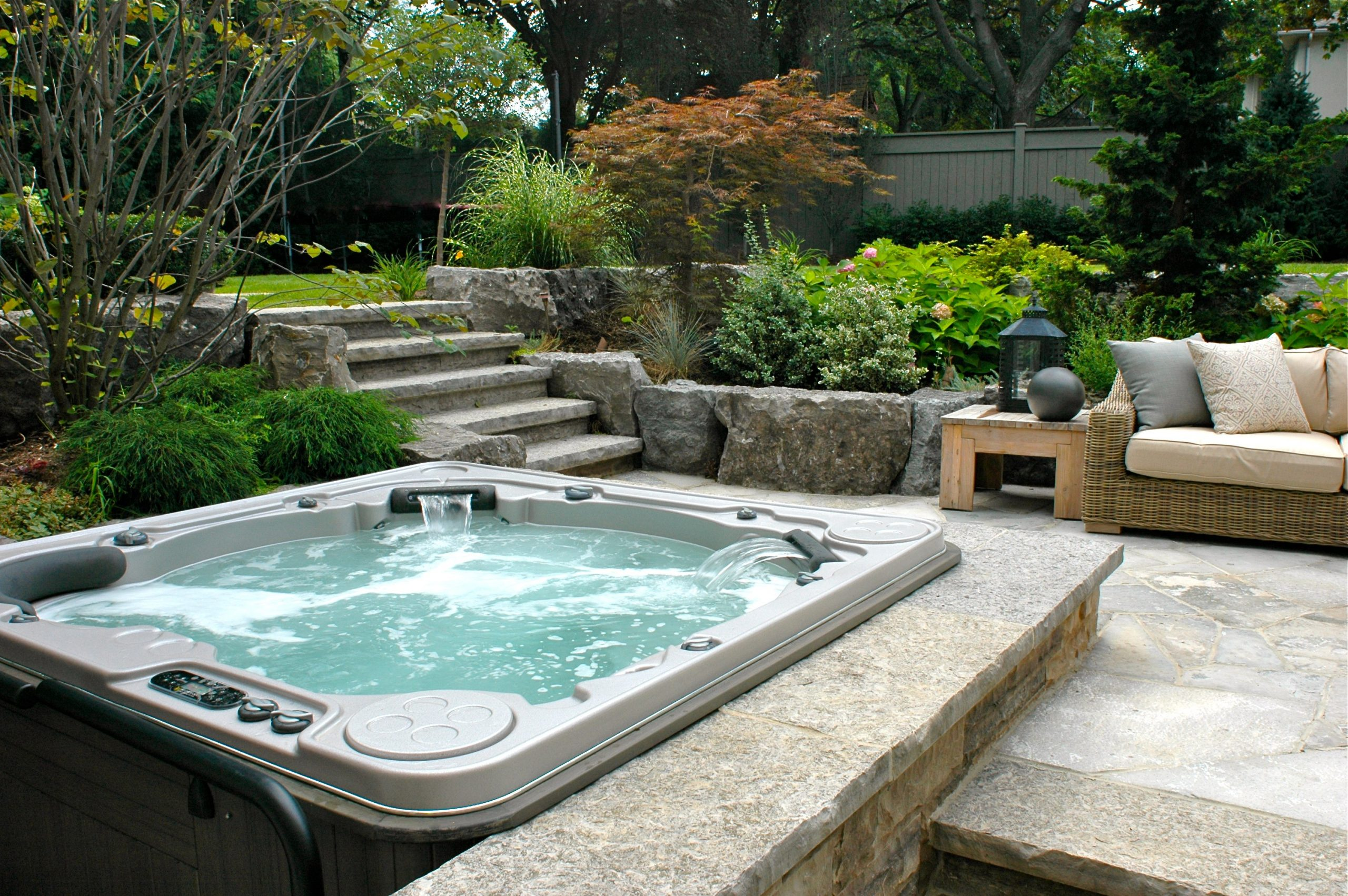 Hot Tub with Landscaping