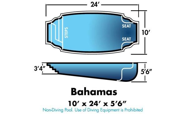 """Bahamas 10' x 24' x 5'6"""""""