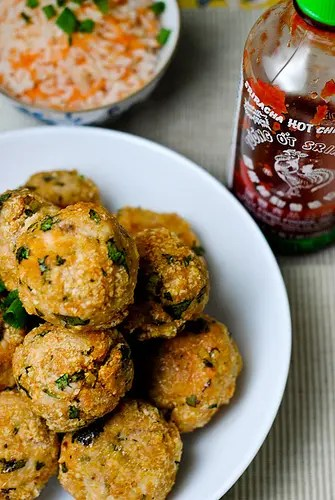 Recipe for Sriracha Turkey Meatballs