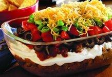 Recipe for 7-Layer Taco Dip