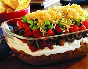 Recipe for 7-Layer Taco Dip