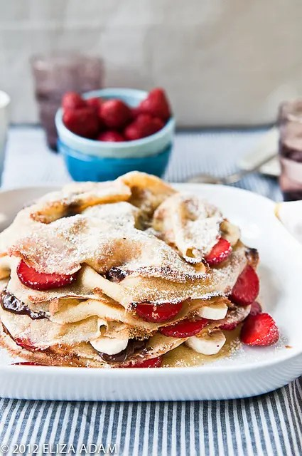 Strawberry-Banana Crepe Cake
