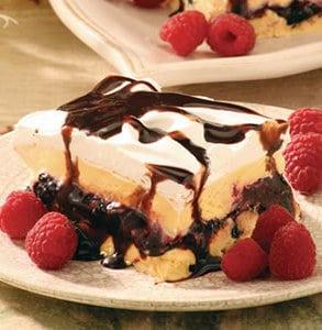Chocolate Raspberry Ice Cream Cake