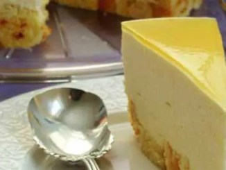 Recipe for Mango Mousse Cake - This Mango Mousse Cake will rock your world. If you're looking for a summery tropical treat, you simply must give this a try.