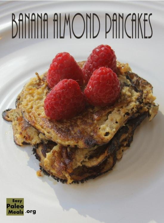 Paleo Almond Banana Pancakes