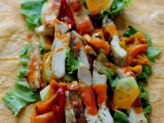 Recipe for Buffalo Chicken Salad Wraps