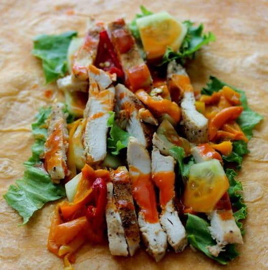 Recipe for Buffalo Chicken Salad Wraps