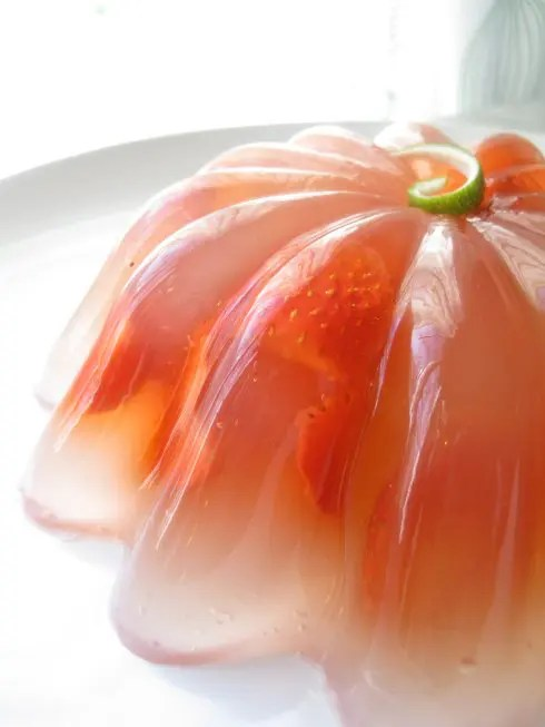 Strawberry Margarita Gelatin Mold
