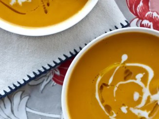 Recipe for Roasted Acorn Squash and Sweet Potato Soup