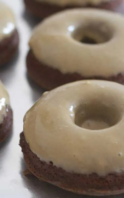 Baked Espresso Brownie Doughnuts