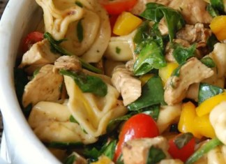 Recipe for Balsamic Chicken Spinach and Tomato Pasta Salad